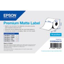 Epson prémiové matné papierové, kontinuálne etikety, 102 mm * 35 metrové (objednávacie množstvo 18 kotúče/balík)