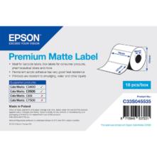 Epson prémiové matné, papierové etikety, 76*127 mm, 265 etiketa/kotúč (objednávacie množstvo 18 kotúče/balík)