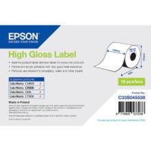 Epson lesklé papierové, kontinuálne etikety, 102 mm * 33 metrové (objednávacie množstvo 18 kotúče/balík)