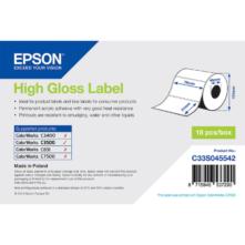 Epson lesklé, papierové etikety, 76*51 mm, 610 etiketa/kotúč (objednávacie množstvo 18 kotúče/balík)