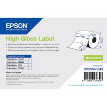 Epson lesklé, papierové etikety, 76*127 mm, 250 etiketa/kotúč (objednávacie množstvo 18 kotúče/balík)