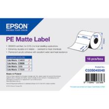 Epson matné, plastové (PE) etikety, 102*76 mm, 365 etiketa/kotúč (objednávacie množstvo 18 kotúče/balík)