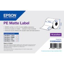 Epson matné, plastové (PE) etikety, 76*127 mm, 220 etiketa/kotúč (objednávacie množstvo 18 kotúče/balík)