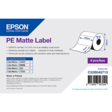 Epson matné, plastové (PE) etikety, 102*76 mm, 1570 etikety/kotúč (objednávacie množstvo 4 kotúče/balík)