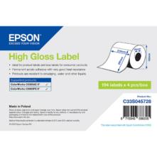 Epson lesklé, papierové etikety, 210*297 mm, 194 etiketa/kotúč (objednávacie množstvo 4 kotúče/balík)