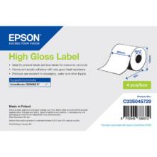 Epson lesklé papierové, kontinuálne etikety, 203 mm * 58 metrové (objednávacie množstvo 4 kotúče/balík)