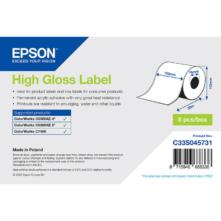 Epson lesklé papierové, kontinuálne etikety, 102 mm * 58 metrové  (objednávacie množstvo 8 kotúče/balík)