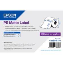Epson matné, plastové (PE) etikety, 210*297 mm, 184 etiketa/kotúč (objednávacie množstvo 4 kotúče/balík)
