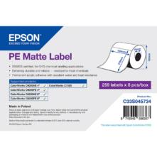 Epson matné, plastové (PE) etikety, 105*210 mm, 259 etiketa/kotúč (objednávacie množstvo 8 kotúče/balík)