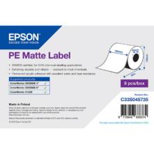 Epson matné, plastové (PE), kontinuálne etikety, 102 mm * 55 metrové (objednávacie množstvo 8 kotúče/balík)
