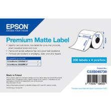 Epson prémiové matné, papierové etikety, 210*297 mm, 200 etiketa/kotúč (objednávacie množstvo 4 kotúče/balík)