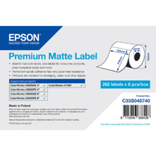 Epson prémiové matné, papierové etikety, 105*210 mm, 282 etiketa/kotúč (objednávacie množstvo 8 kotúče/balík)