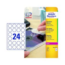 40 mm-es Avery Zweckform A4 íves etikett címke, fehér színű (20 ív/doboz)