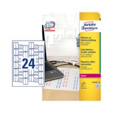 60*40 mm-ové Avery Zweckform A4 hárkové print etikety, biela farba (20 hárkov/balenie)
