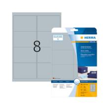 99,1*67,7 mm-es Herma A4 íves etikett címke, ezüst színű (25 ív/doboz)