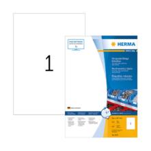 210*297 mm-es Herma A4 íves etikett címke, fehér színű (100 ív/doboz)