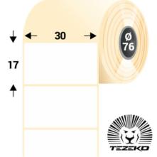 30 * 17 mm-es, öntapadós műanyag etikett címke (8500 címke/tekercs)