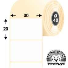 30 * 20 mm, samolepiace plastové etikety (1000 etikiet/kotúč) (M0300002000-006)