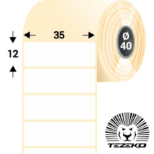 35 * 12 mm, samolepiace plastové etikety (2000 etikiet/kotúč) (M0350001200-002)
