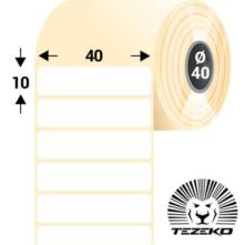 40 * 10 mm, samolepiace plastové etikety (2000 etikiet/kotúč) (M0400001000-002)