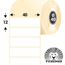 40 * 12 mm, samolepiace plastové etikety (4550 etikiet/kotúč) (M0400001200-001)
