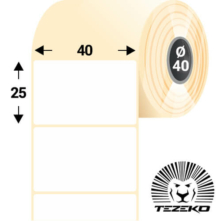 40 * 25 mm, samolepiace plastové etikety (3000 etikiet/kotúč) (M0400002500-001)