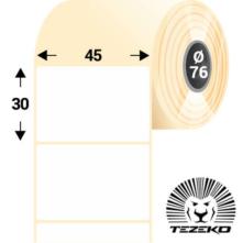 45 * 30 mm, samolepiace plastové etikety (5000 etikiet/kotúč) (M0450003000-001)