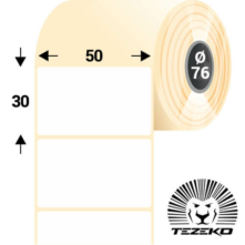 50 * 30 mm, samolepiace plastové etikety (2500 etikiet/kotúč) (M0500003000-001)