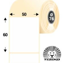 50 * 60 mm-es, öntapadós műanyag etikett címke (2800 címke/tekercs)