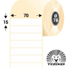 70 * 15 mm, samolepiace plastové etikety (5000 etikiet/kotúč) (M0700001500-001)