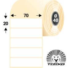 70 * 20 mm, samolepiace plastové etikety (3000 etikiet/kotúč) (M0700002000-002)