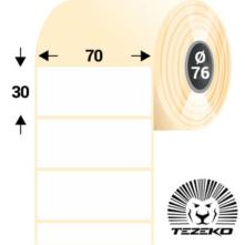 70 * 30 mm-es, öntapadós műanyag etikett címke (4000 címke/tekercs)