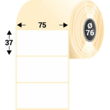 75 * 37 mm, samolepiace plastové etikety (3000 etikiet/kotúč) (M0750003700-001)