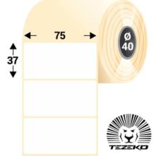 75 * 37 mm-es, öntapadós műanyag etikett címke  (1000 címke/tekercs)