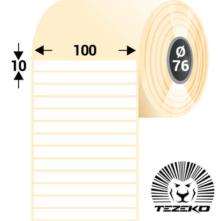 100 * 10 mm, samolepiace plastové etikety (5000 etikiet/kotúč) (M1000001000-002)