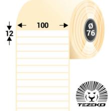 100 * 12 mm, samolepiace plastové etikety (2500 etikiet/kotúč) (M1000001200-001)