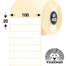 100 * 20 mm, samolepiace plastové etikety (1500 etikiet/kotúč) (M1000002000-002)