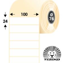 100 * 24 mm-es, öntapadós műanyag etikett címke (3500 címke/tekercs)