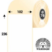 102 * 236 mm-es, öntapadós műanyag etikett címke (700 címke/tekercs)