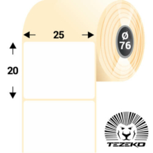 25 * 20 mm, samolepiace papierové etikety (8000 etikiet/kotúč)