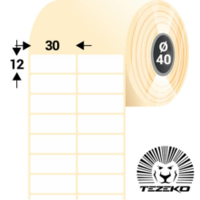 30 * 12 mm, samolepiace papierové etikety (15000 etikiet/kotúč)