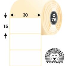 30 * 15 mm-ové, samolepiace papierové etikety (8000 etikiet/kotúč)