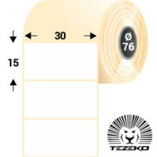 30 * 15 mm, samolepiace papierové etikety (8000 etikiet/kotúč)