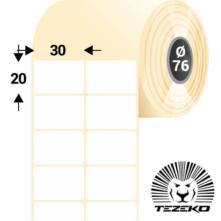 30 * 20 mm, samolepiace papierové etikety (16000 etikiet/kotúč)