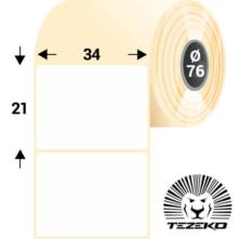34 * 21 mm-ové, samolepiace papierové etikety (8000 etikiet/kotúč)