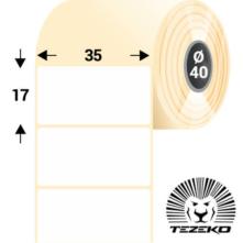 35 * 17 mm, samolepiace papierové etikety (5000 etikiet/kotúč)