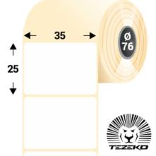 35 * 25 mm-ové, samolepiace papierové etikety (6700 etikiet/kotúč)