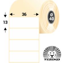 36 * 13 mm, samolepiace papierové etikety (5000 etikiet/kotúč)