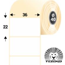 36 * 22 mm, samolepiace papierové etikety (3000 etikiet/kotúč)