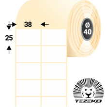 38 * 25 mm-ové, samolepiace papierové etikety (5000 etikiet/kotúč)